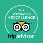Privilodges Carré de Jaude*** reçoit l'Attestation d'Excellence Tripadvisor !